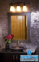 Столешницы и пол в ванной