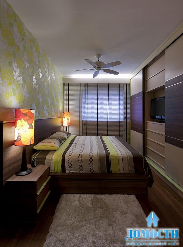 Дизайн темной спальни