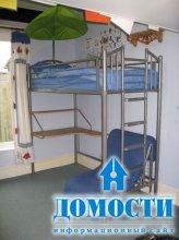 Детские кровати-чердаки с диваном