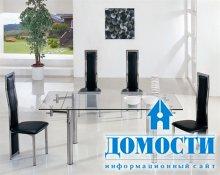 Современный стеклянный стол