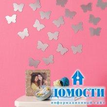 Бабочки в дизайне стен