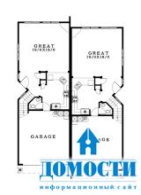 Узкие дома с гаражом