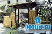 Японские заборы из бамбука