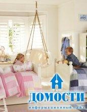 Сине-розовые детские спальни