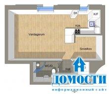 Интерьер квартиры с нишей