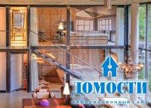 Деревянный дом с бетонными элементами
