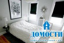 Спальни черно-белого цвета
