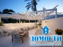 Треугольный дизайн ресторанной террасы
