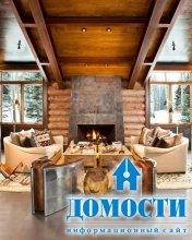 Интерьер дома в горах