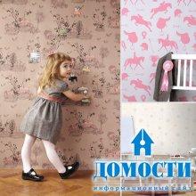 Дизайн детских обоев