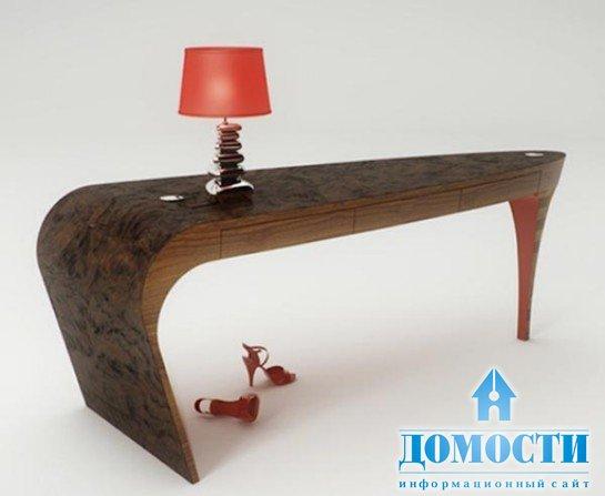 Столик из дерева необычной формы своими руками фото
