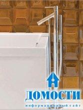 Ванная с янтарной плиткой