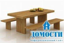 Современный дизайн дубового стола