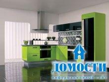 Кухни цвета свежей зелени