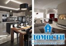 Открытые кухни с барной стойкой