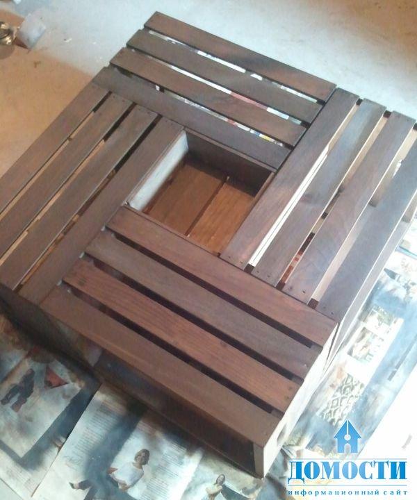 Стол из ящиков видео
