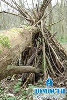 Лесные шалаши для детей