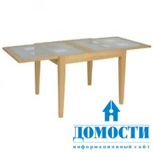 Современный стол с прозрачной столешницей