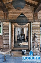 Эклектичный дом из дуба