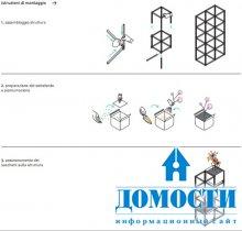Модульная цветочная мебель