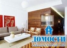 Деревянная отделка современной квартиры