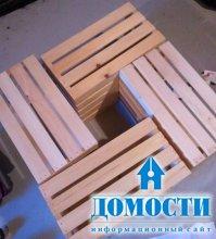 Деревянный столик из ящиков