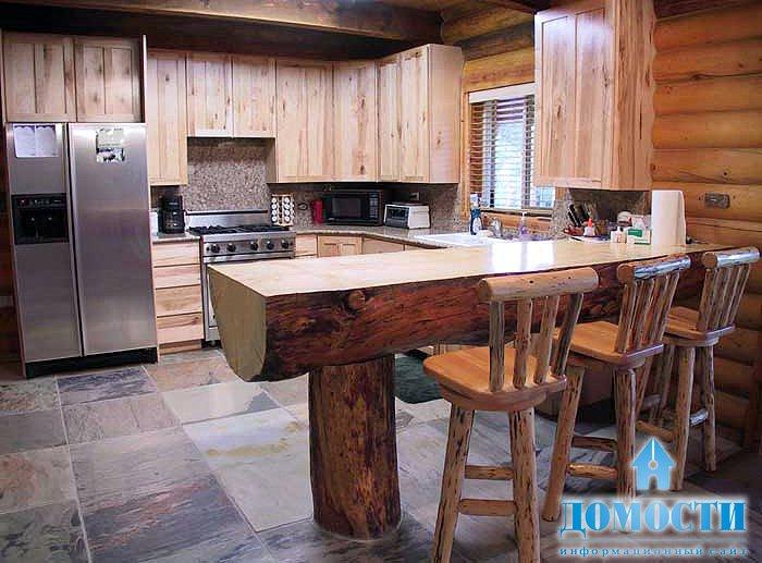 Барная стойка из дерева для кухни своими руками