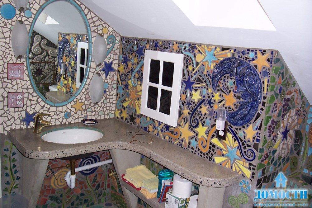 Мозаика своими руками в ванной комнате