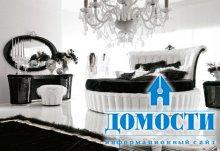 Традиционные черно-белые спальни