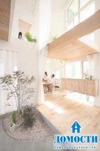 Японский дом с природным наполнением