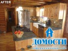 Обновление кухни в бревенчатом доме