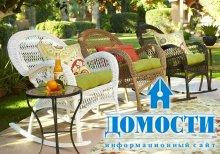 Яркая мебель для дизайна сада