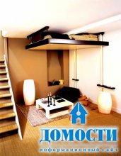 Спальни с кроватями под потолком