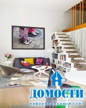 Дом с лестницей-полкой
