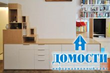Многофункциональный интерьер однокомнатной квартиры