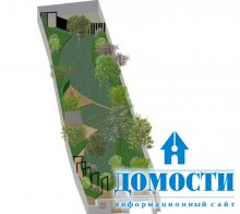 Проект дизайна узкого сада