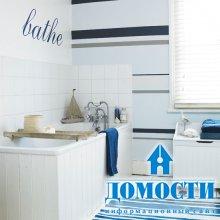Декорирование ванных обоями