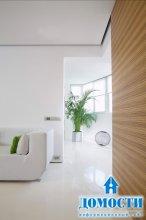 Свежий интерьер с комнатными растениями