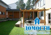Скандинавский интерьер дома из бруса