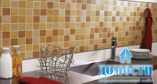 Ceramic wall tile backsplash