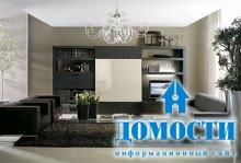 Яркие сочетания с черной мебелью