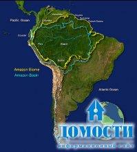 Наступление цивилизации на лес Амазонки