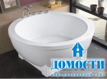 Удобные ванны для маленьких комнат