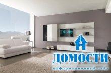 Белые модули для гостиной