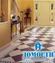 Дизайн плитки в коридор