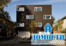 Кедровый дом в форме куба