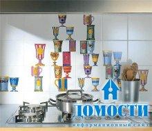 Современные кухонные фартуки