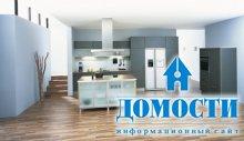 Дизайн кухонь синего цвета