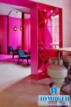 Женственные розовые интерьеры