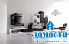 Черно-белые гостиные в стиле минимализм